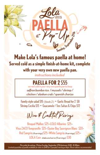 Lola Paella Pop-Up