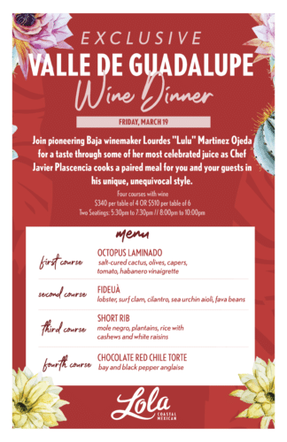 Exclusive Valle de Guadalupe Wine Dinner